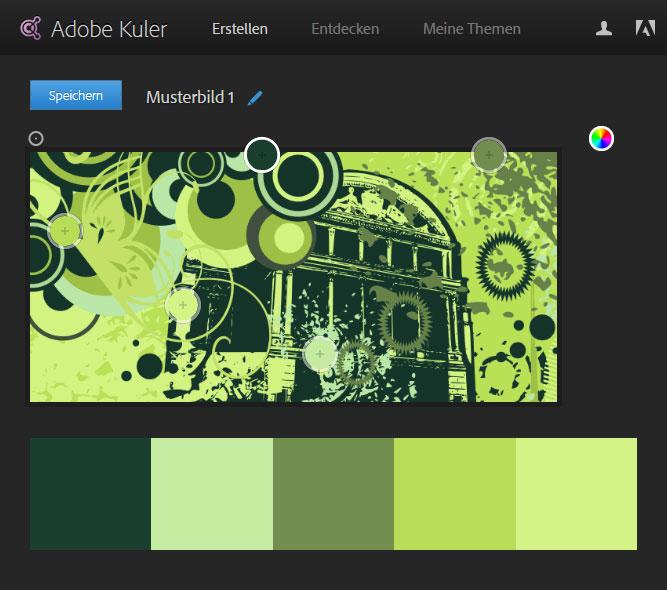 Adobe Kuler - Farbschema erstellen - Beispiel 1