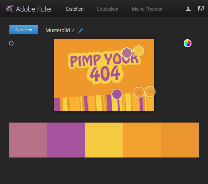 Adobe Kuler - Farbschema erstellen - Beispiel 2