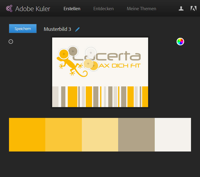 Adobe Kuler - Farbschema erstellen - Beispiel 3