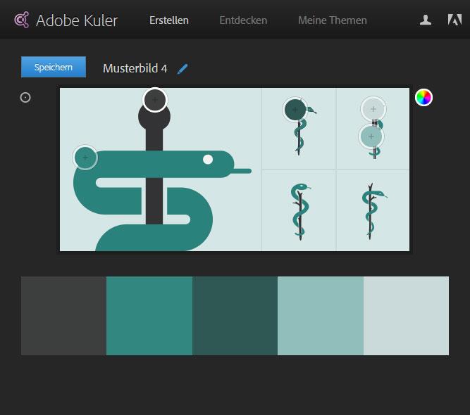 Adobe Kuler - Farbschema erstellen - Beispiel 4