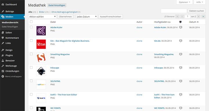medienverwaltung-listing-wp-version-3-9-2