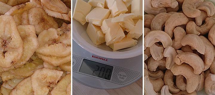 banana-split-cookies-zutaten-auswahl